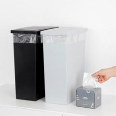 슬림 스윙 휴지통 20L + 전용 비닐봉투20L 50매