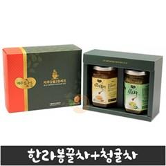 제주담움 2종세트(한라봉꿀차/청귤차) (각250g)