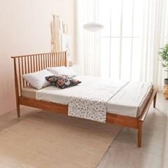 KUF 비본 원목 침대, 메모리폼 롤팩 매트리스 15cm SS_(2014369)