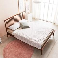 KUF 비본 원목 침대, 메모리폼 롤팩 매트리스 15cm Q_(2014365)
