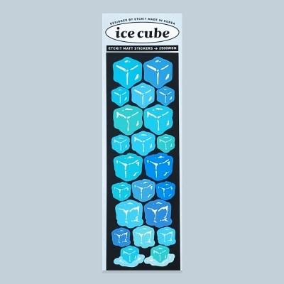 무광 얼음 스티커