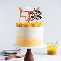 엔틱 클래식 테이블세트 자유문구 케이크 토퍼