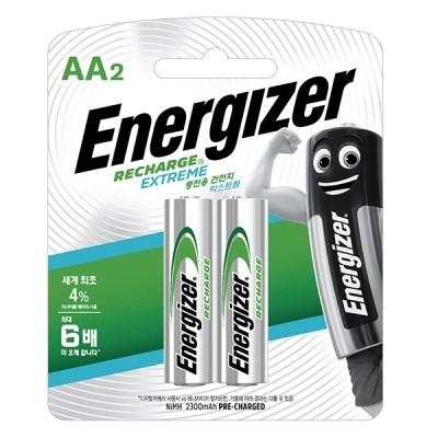 에너자이저 니켈수소 충전지 AA AAA 2입 (2알) 건전지