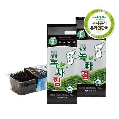 [본사운영] 지도표 성경김 녹차조각김50gX5봉