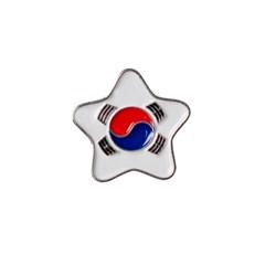 별 태극기 뱃지 (Silver)