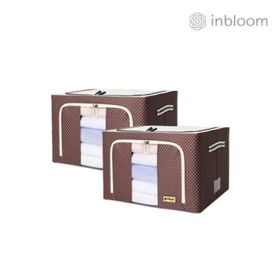 인블룸 1+1세트 도트 리빙박스 66L 브라운_(2896740)
