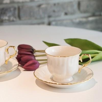 빈티지 골드 커피잔 선물세트(2set)
