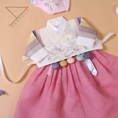 한설한복1706.S 색감매치 여아 색동저고리 아기한복