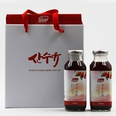 [남도장터]재배팜 쏠라베리 산수유 선물세트 3호(380mlx2)