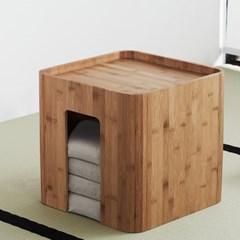 대나무 원목 티테이블 방석 세트_(244319)
