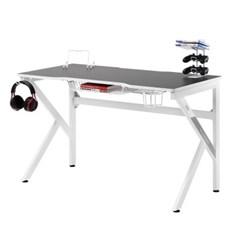 에이픽스 1인용 게이밍 컴퓨터 책상 GD001 1200 화이트