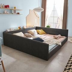 엘리스 LED패밀리 패브릭가죽 침대세트 B형2.4m (독립스프링) AD26R