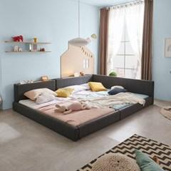 엘리스 LED패밀리 패브릭가죽 침대세트 A형2.8m (독립스프링) AD24R