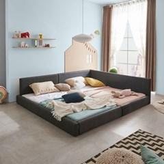 엘리스 패밀리 패브릭가죽 침대세트 A형2.4m (독립스프링) AD12R