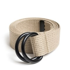 BK D-RING BELT (beige)