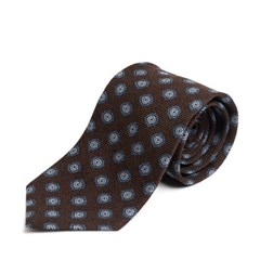FOULARD WOOL TIE (brown)