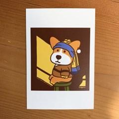 진주 귀걸이를 한 Postcard