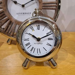 TABLE CLOCK SILVER 13.5CM