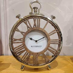 TABLE CLOCK LUTON SILVER 30CM