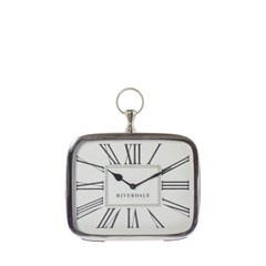 TABLE CLOCK LUTON SILVER 25CM