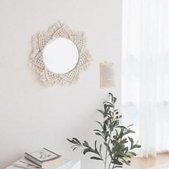 까르다 마크라메 인테리어 벽장식 거울
