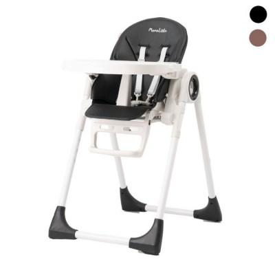 맘앤리틀 미미 하이체어-다기능 접이식 유아 아기식탁의자-레더블랙