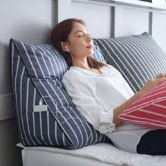 핀 침대 삼각 등받이쿠션 중형