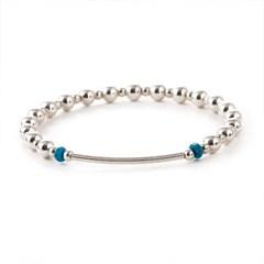 [Silver92.5]SVB - #S230 Round Bar Turquoise Bracelet