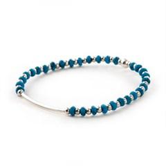 [Silver92.5]SVB - #S229 Round Bar Turquoise Bracelet