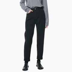 LW056 MODERN CROP COTTON PANTS_BLACK
