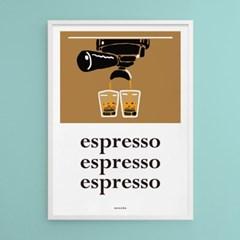 에스프레소 커피 M 유니크 인테리어 디자인 포스터 카페