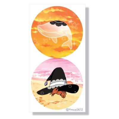 마녀의 바다 친구들 도무송 스티커
