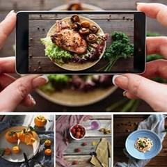 음식 제품 상품 촬영 양면 컨셉 배경지