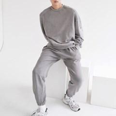 남자 상하세트 스웻 오버핏 박스 맨투맨 트레이닝 조거팬츠