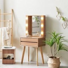 KUF 러브웰 LED 600 2단 수납 화장대 거울포함_(2020867)