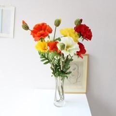 쨍한 양귀비 조화 인테리어 조화꽃장식(4color)