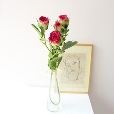 이슬을 머금은 촉촉 생화같은 장미 조화꽃장식 (3color)