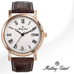 MATHEY-TISSOT 메티티솟 HB611251PBR 남성시계 가죽밴드 손목시계