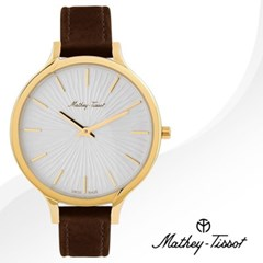 MATHEY-TISSOT 메티티솟 D865PYI 여성시계 가죽밴드 손목시계