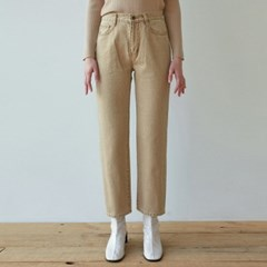 WIDE LEG DYEING COTTON PANTS_BEIGE