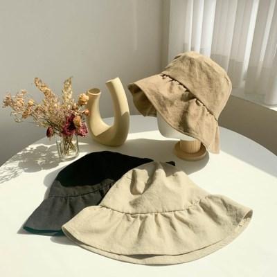 플로어 모던 벙거지 모자 버킷햇 3color