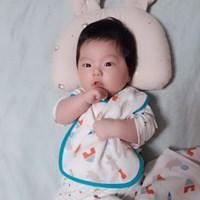 유아동 아기 이유식 거즈 패턴 턱받이 디자인 침받이