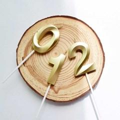 블링블링 메탈릭 골드 숫자초 파티 생일초