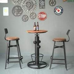 빈티지 무드 홈바 테이블 의자 세트_(246614)