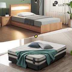 젠티스 [드로우 LED 3단서랍형 Q 침대 + 슬리피언 S5 매_(438895)
