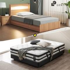 젠티스 [드로우 LED 3단서랍형 Q 침대 + 슬리피언 S7 매_(438894)
