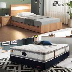 젠티스 [드로우 LED 3단서랍형 Q 침대 + 슬리피언 S9 매_(438893)