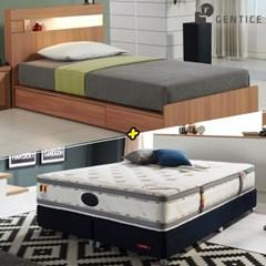 젠티스 [브로스 LED 3단서랍형 Q 침대 + 슬리피언 S9 매_(438883)