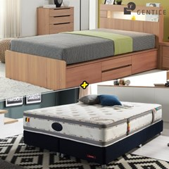 젠티스 [브로스 LED 4단서랍형 Q 침대 + 슬리피언 S9 매_(438880)