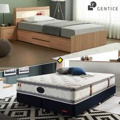 젠티스 [엘리오 LED 4단서랍형 Q 침대 + 슬리피언 S9 매_(438867)